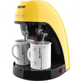 cafeteira colorida cadence single amarela caf214 1 design frontal