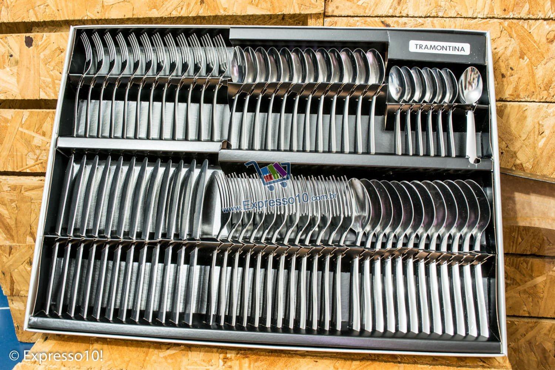 Tramontina Malibu tem 72 peças em Aço Inox Puro e Liso