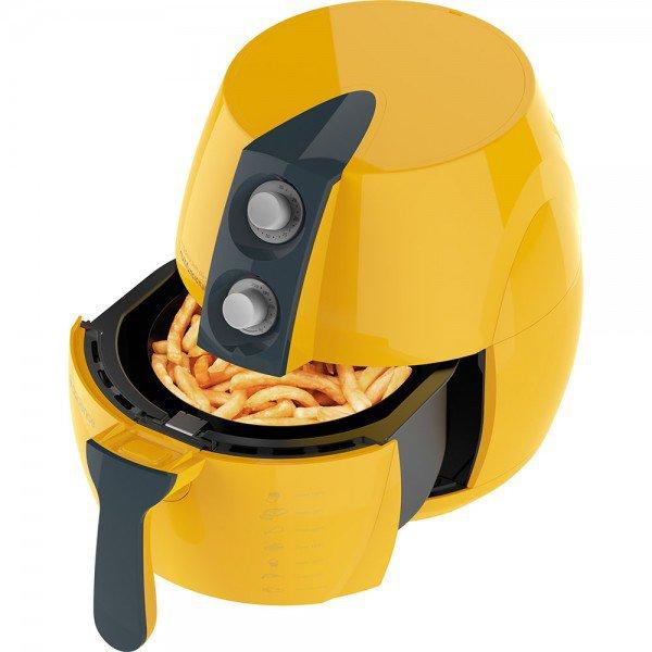 fritadeira eletrica sem oleo air fry cadence amarela