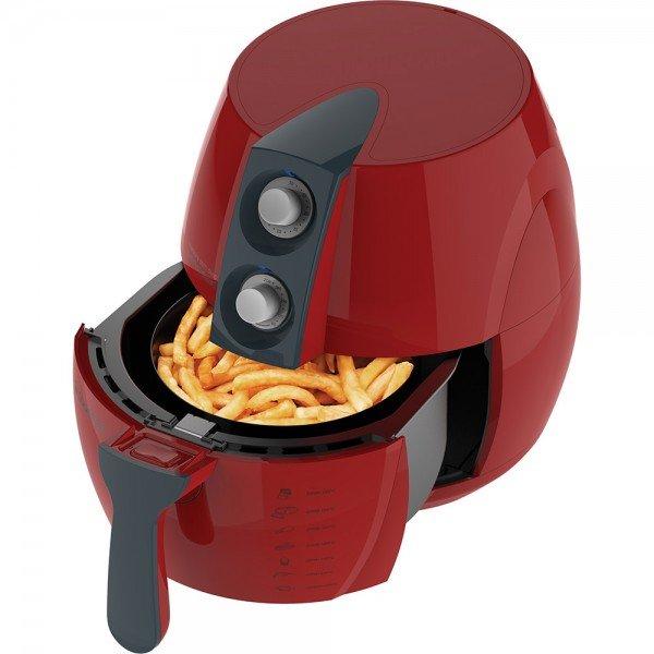 fritadeira eletrica sem oleo air fry cadence vermelha frt541