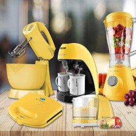Kit cozinha colorida amarela - portáteis linha colors