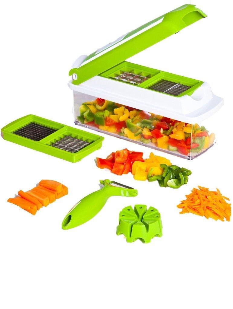 Cortador de Legumes e Verduras Manual - Verde  Verde