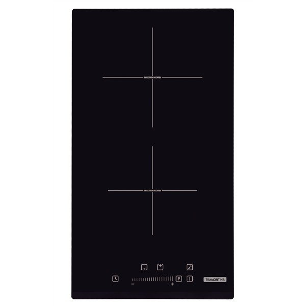 cooktop por inducao tramontina domino slider 2ei 30 com 2 areas de aquecimento e comando touch 94750221